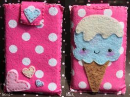 ice cream ipod case by CandyStripedCafe