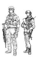 BF4 USMC Support class (line art) by ThomChen114
