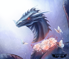 Winter- blooming frost by Zafrean