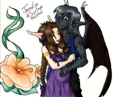 Jemai'yu and Surinya Coloured by faeore