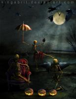 Skeletons Night Off by KingaBritschgi