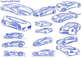 Car Sketches 05 by WoofyDesigns