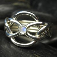 Moonstone puzzle ring by Vansee-Jewelry