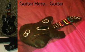 Guitar Hero Guitar Plush by TombRaiderKuchen