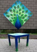Peacock Table by badash13