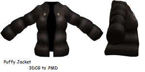 MMD- Puffy Jacket -DL by MMDFakewings18
