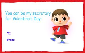 The Villager valentine card by rabbidlover01
