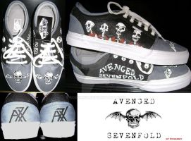 Avenge Sevenfold Shoes by Rosemev