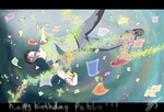 Happy Birthday Poch-2012 by Johny-Kun
