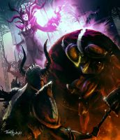 SHOVEL KNIGHT FAN ART final boss by thatnickid