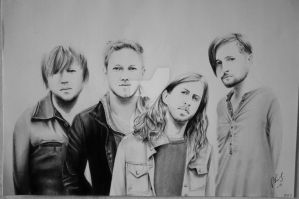 Drawing of Imagine Dragons by Niiina97