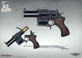 Concept art Wolfenstein The Old Blood Kampfpistol by torvenius