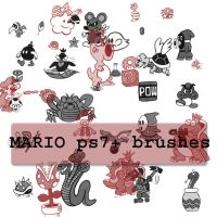 Mario PS7 BRUSHES by HOBOKID