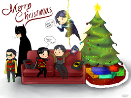 Merry Christmas from the Bat Family by Mikiku