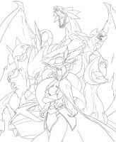 Full team lineart by Namh