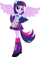 Anthro EQG Twilight Sparkle Vector by icantunloveyou