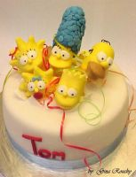 The Simpsons Surprise Cake by ginas-cakes