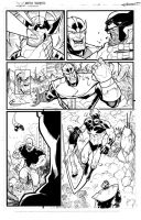 Avengers page 3 inks by JoeyVazquez
