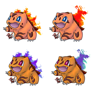 Fire Type Bulbasaur Adopt by DraconianQueen