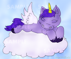 Baby Unicorn Sleeping V1 by princesslillymono