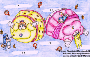 AT: balloon Princesses by D-MENCIA