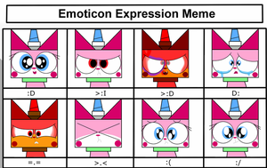 Unikitty Expression Meme by RainbowzForLife
