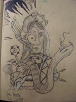 weird lady sketch by joogerson