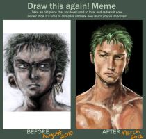 Zoro - Improvement Meme by CodeNameZimbabwe
