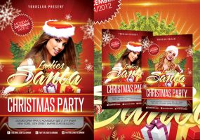 Christmas Party Flyer Template by angkalimabelas