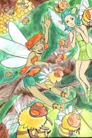 bees and fairies by JillyFoo