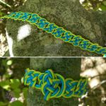 Blue Green Double Coin Knot Bracelet by RebeccaMArt