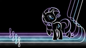 Rarity Glow Wallpaper by SmockHobbes