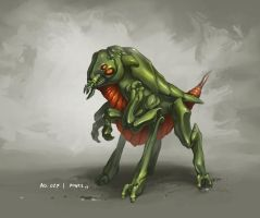 Monster No. 027 by Onehundred-Monsters