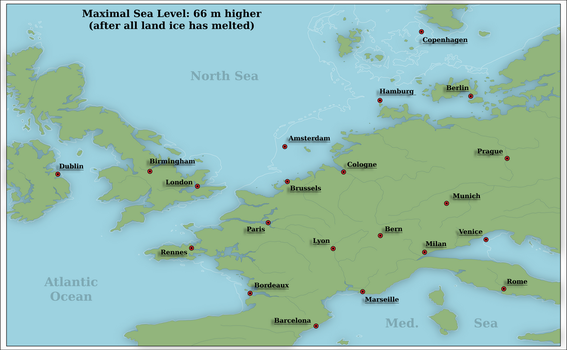 Higher sea level in Europe by Arminius1871
