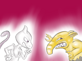pokedexxed challenge: Mewtwo And Drowzee by megadrivesonic