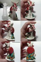 Okami Chess Set White Queen by ChibiSilverWings