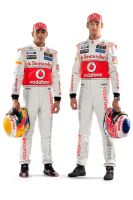 Lewis Hamilton and Jenson Button by curtisblade