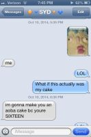 GUYS SYD IS GONNA MAKE ME THE CAKe by BleachedStrawberry