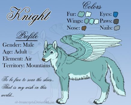 2016 Simple Character Ref: Knight by SD-DreamCrystal