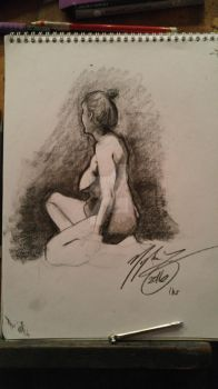 One Hour Life Drawing - Live Model - Week 8 by heyitsmyles