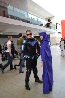 nightwing cosplay at mcm london 2014 by marty0x