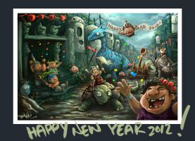 HAPPY NEW YEAR 2012 by kehchoonwee