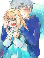Jack frost and Elsa by Pinoring