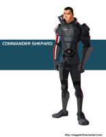 Commander Shepard by Maggotx9