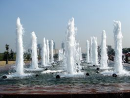 fountain in Victory Park by nuke-vizard