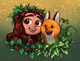 Holly and Ivy by MargoDraws