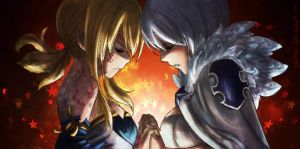 Fairy Tail 328 Lucy and Yukino by Yachuri