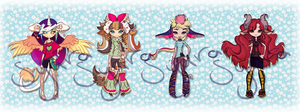 Girls adopts  - (2 left - Offer points to adopt) by Syaraa