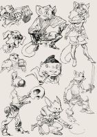 anthro characters by Arsenic by Aldagon