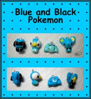 Blue and Black Pokemon by aruachan